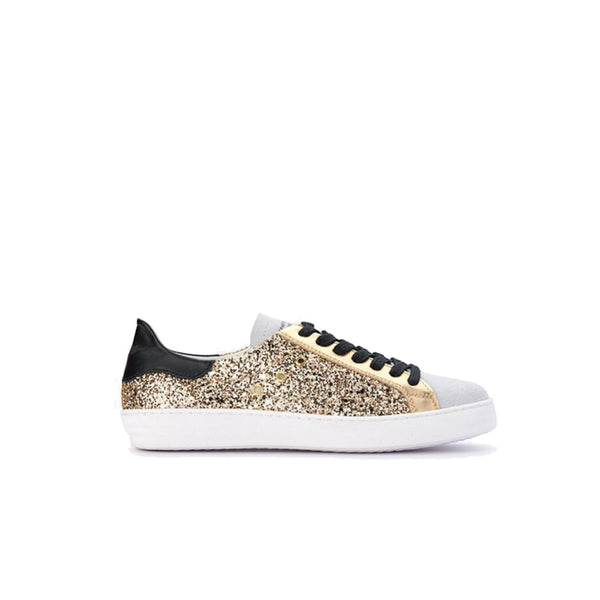 Department of Finery Indiana Gold Glitter Trainers