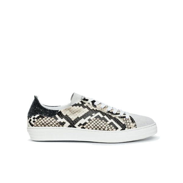 Department of Finery Indiana Snake Black Glitter Trainers