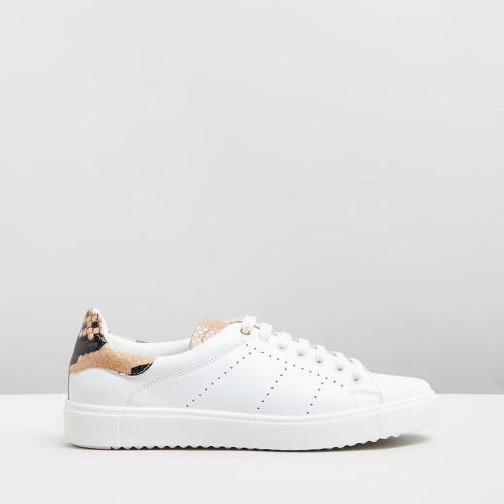 Department of Finery Tommy Snake White Almond Trainers