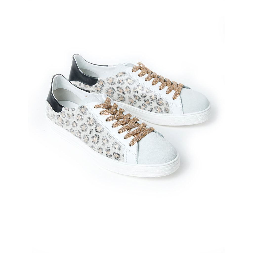 Department of Finery Indiana White Leopard Trainers