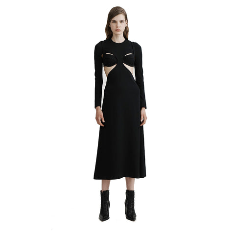Dion Lee Long Sleeve Open Back Bra Dress