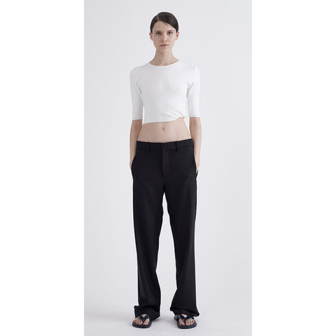 Dion Lee Cotton Jersey LS Crop Tee