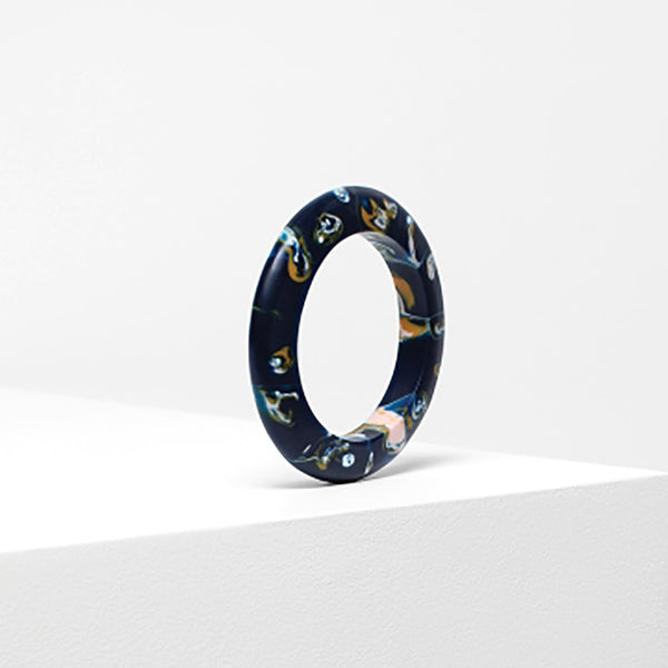 Elk Marbled Resin Bangle