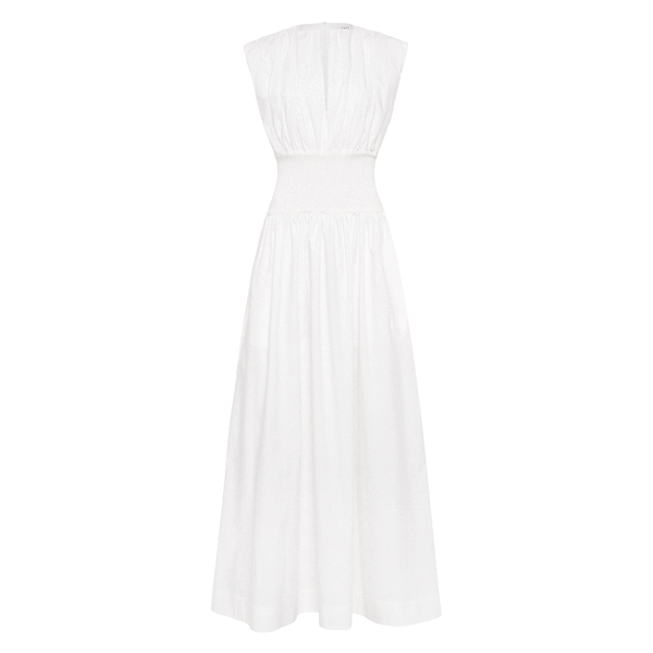 Esse Ivory Cotton Rib Dress