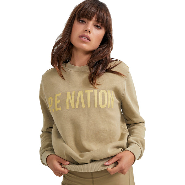 PE Nation Olive Grey Fortify Sweat
