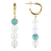 Fairley Turquoise Pearl Drop Earrings