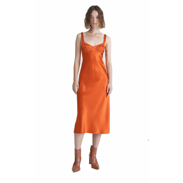 Dion Lee Layered Silk Satin Dress