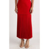 Dion Lee Bonded Crepe Linear Pleat V-Neck Dress