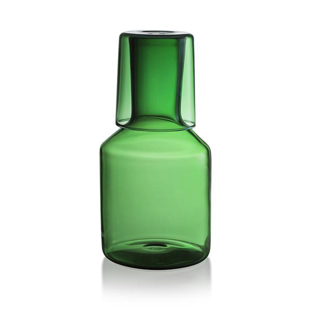 Maison Balzac Green Carafe and Glass