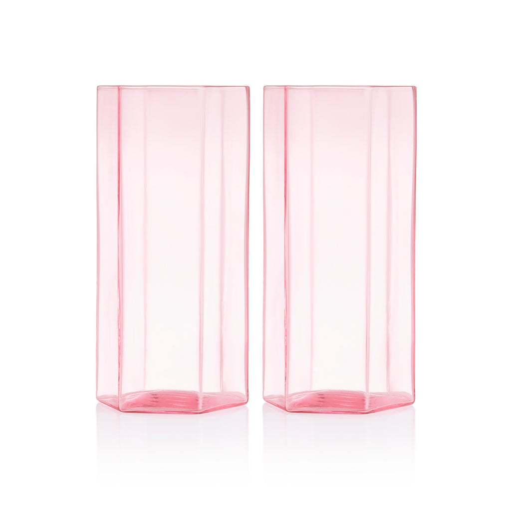 Maison Balzac Pink Coucou Tall Glass (Set of 2)
