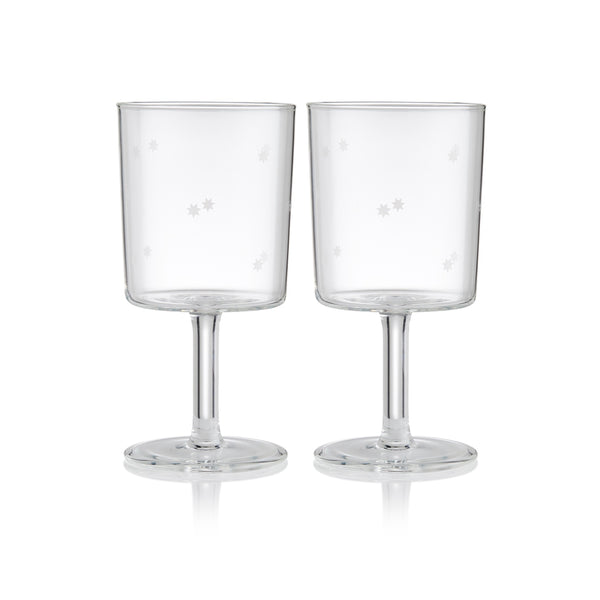 Maison Balzac Clear Star Wine Glasses, Set of 2