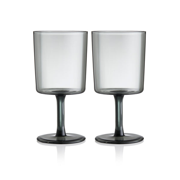 Maison Balzac Smoke Wine Glasses, Set of 2
