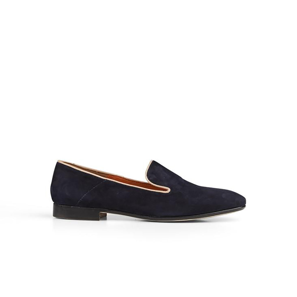 Maya McQueen Marie Suede Piped Loafer