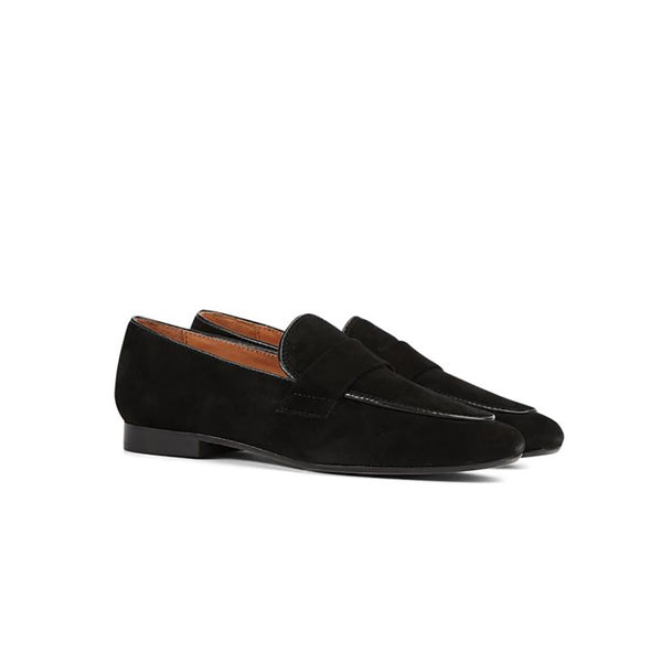 Maya McQueen Meg Suede Piped Detail Loafer