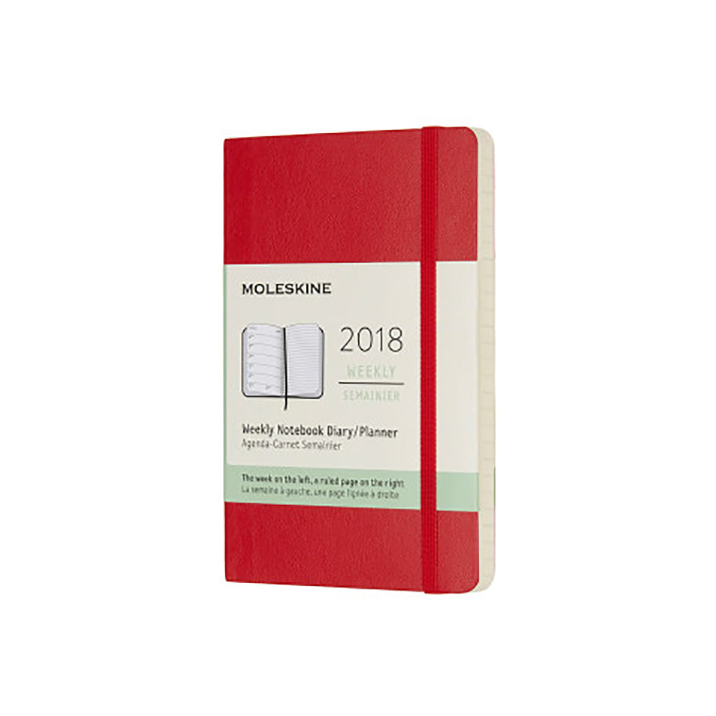 Moleskine 2018 Soft Diary Weekly Notebook