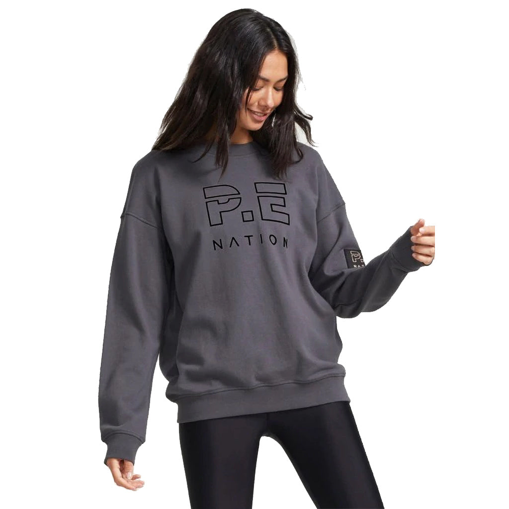 PE Nation Charcoal Heads Up Sweat