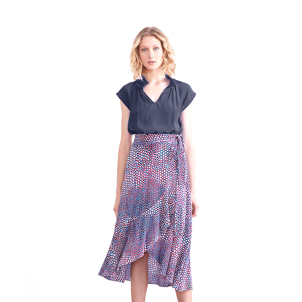 The Dreamer Label Sofia Silk Wrap Skirt