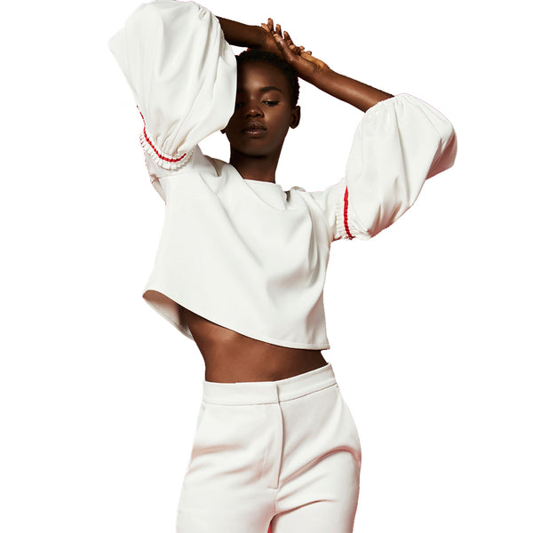 White Story Adele Crop Top