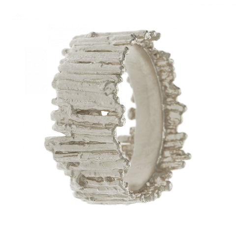 Alex Monroe Nest Structure Wide Band Ring