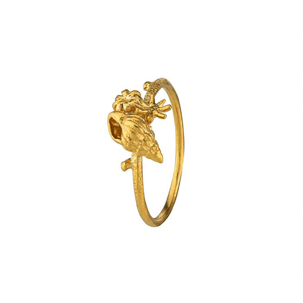 Alex Monroe Shell Cluster Stacking Ring