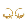 Alex Monroe Starfish & Shell Hoop Earrings