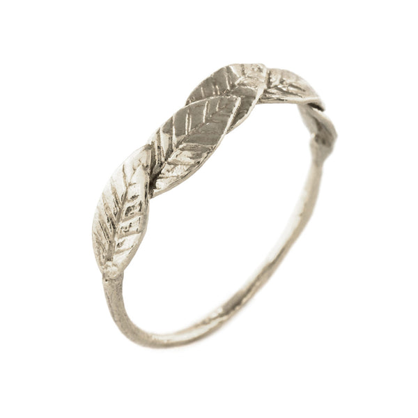 Alex Monroe Overlapping Bird of Paradise Leaf Ring
