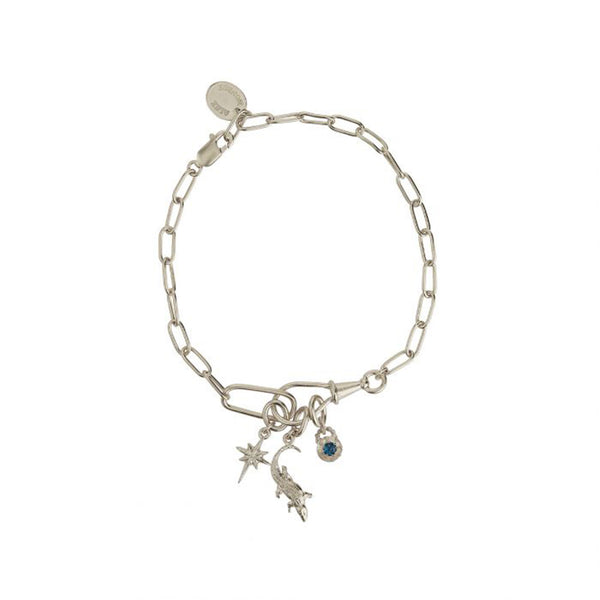 Alex Monroe Crocodile Amulet Linked Chain Bracelet