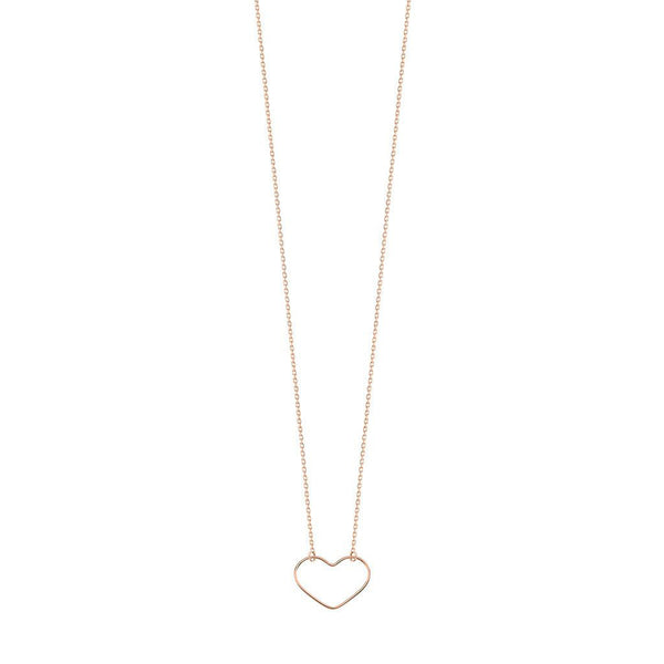 Vanrycke Angie Heart Outline Rose Gold Necklace Small
