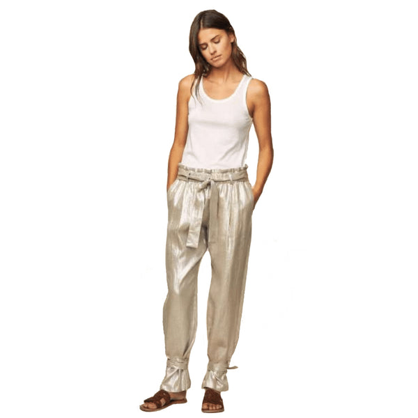 Diega Papao Gold Linen Pants