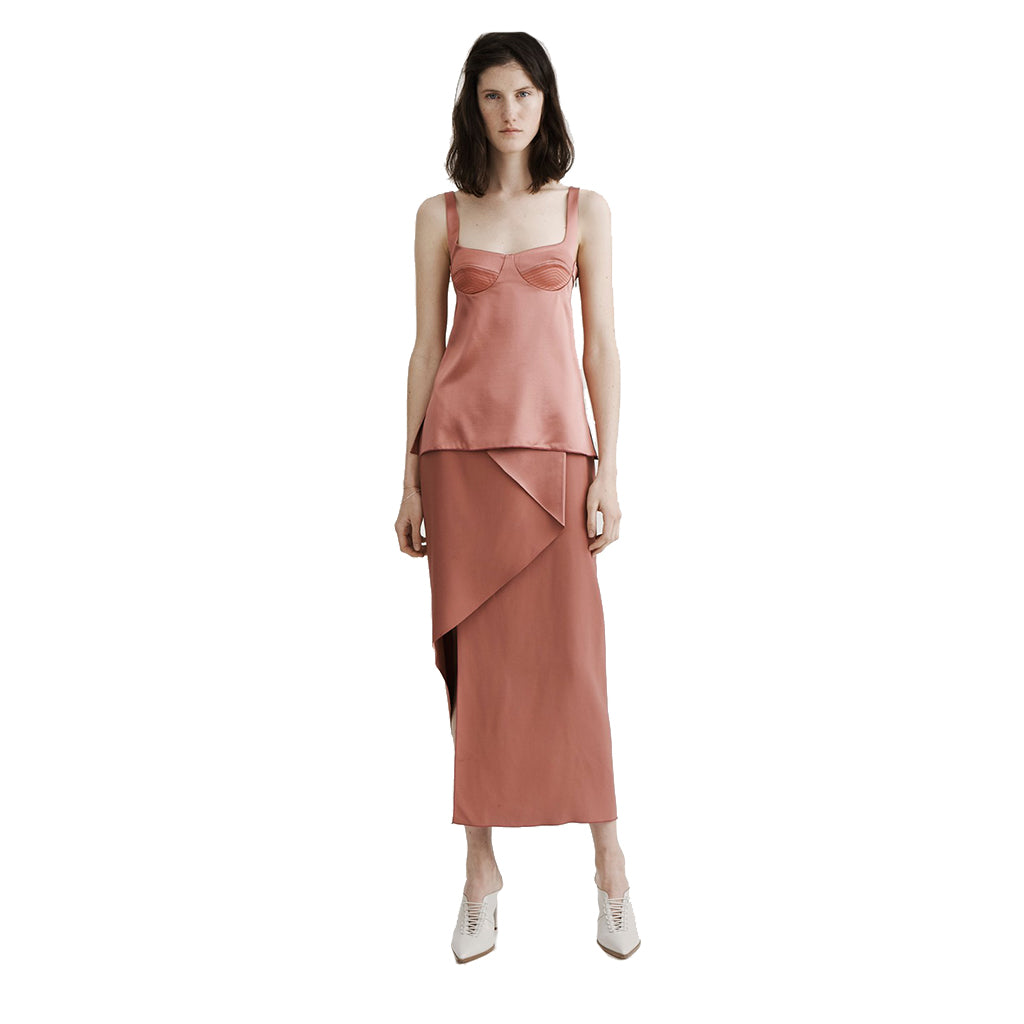 Dion Lee Layered Silk Satin Top