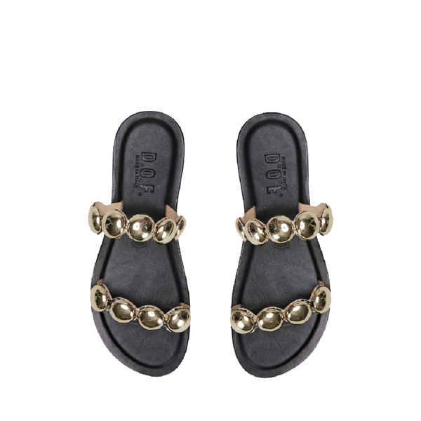 D.O.F. Paige Gold Stud Sandals