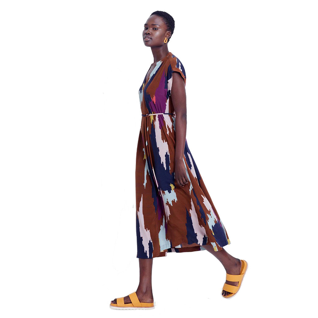 Elk Ikat Maxi Dress