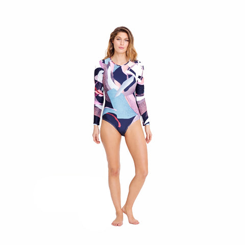 Elk Dapple Long Sleeve Swimsuit