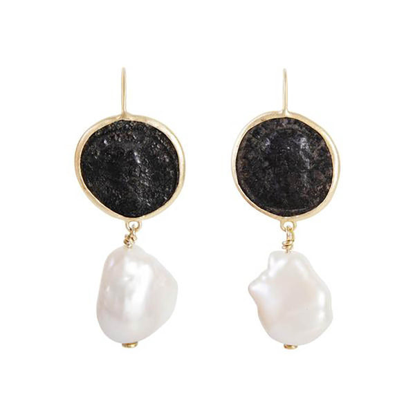 Fairley Roman Coin Baroque Earrings
