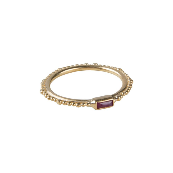 Fairley Ruby Crown Stacker Ring