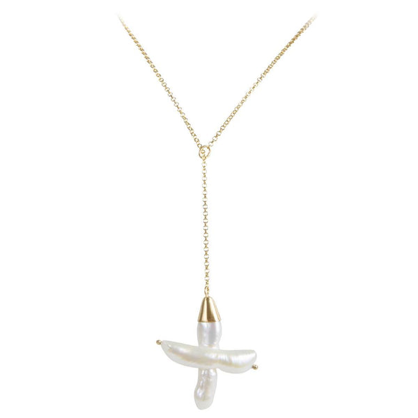 Fairley Pearl Shield Necklace