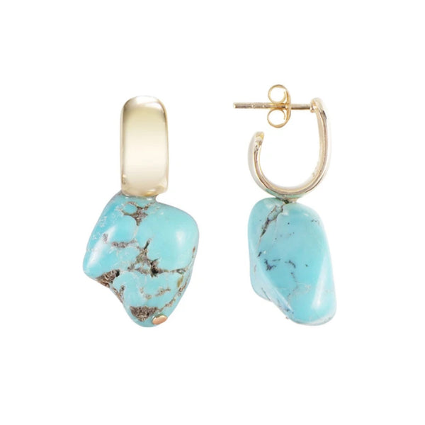Fairley Turquoise Luna Hoops