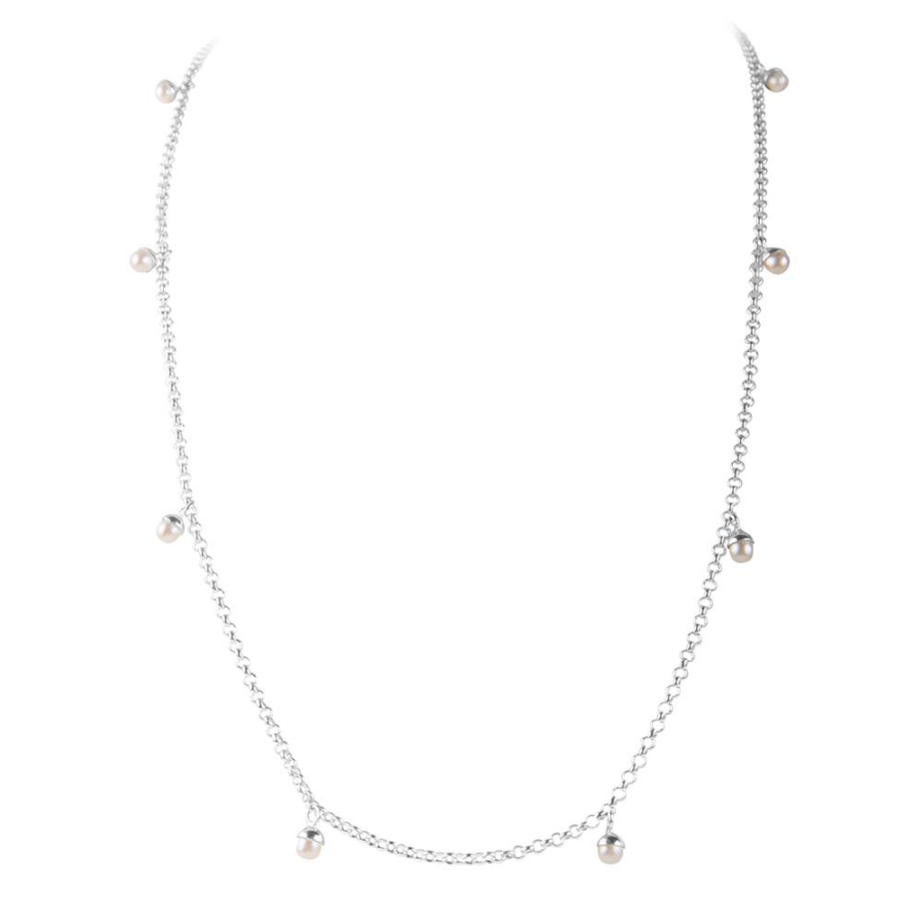 Fairley Pearl Pom Necklace - Silver