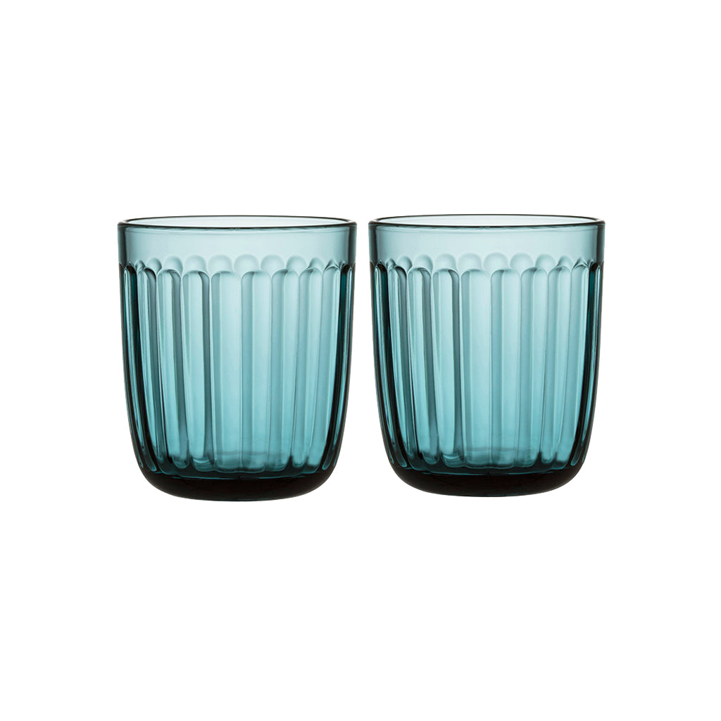 iittala Pair Raami Sea Blue Tumblers