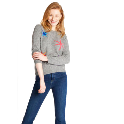 Jumper 1234 Multi Star Crew Cashmere Jumper