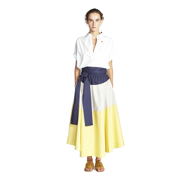 Lee Mathews Davis Cotton Poplin Skirt
