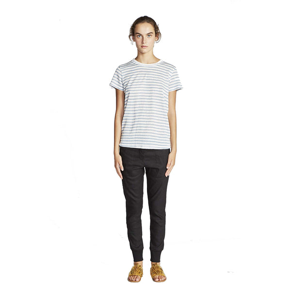 Lee Mathews Mia Stripe Linen Jersey Top