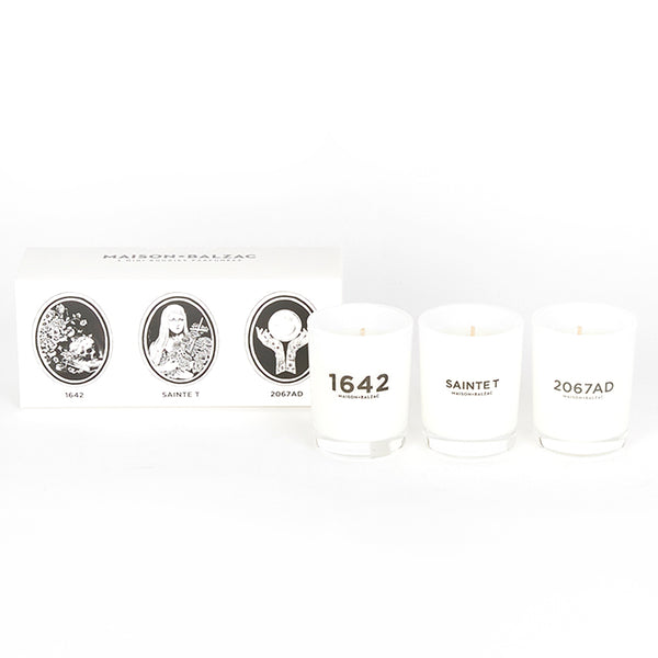 Maison Balzac Dr Cooper-Trio Mini Candles