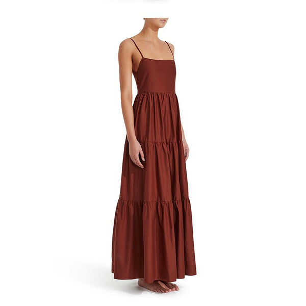 Matteau Tiered Low Back Sundress Rust