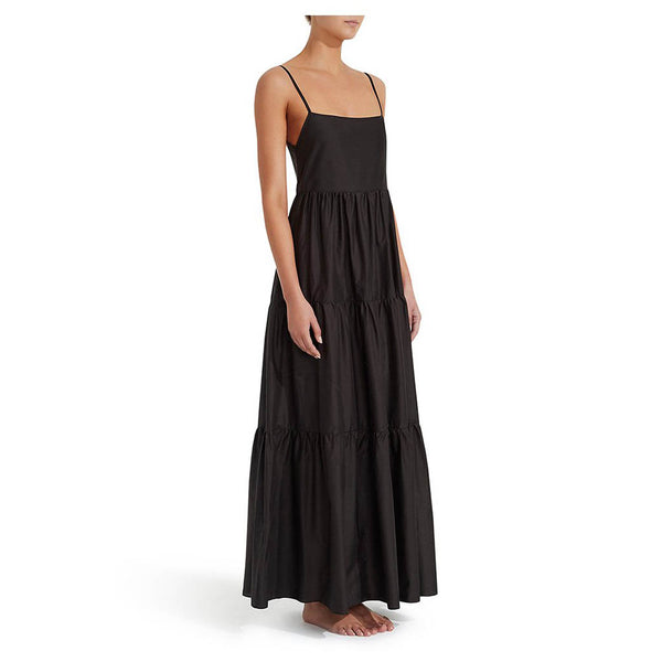 Matteau Tiered Low Back Sundress Black