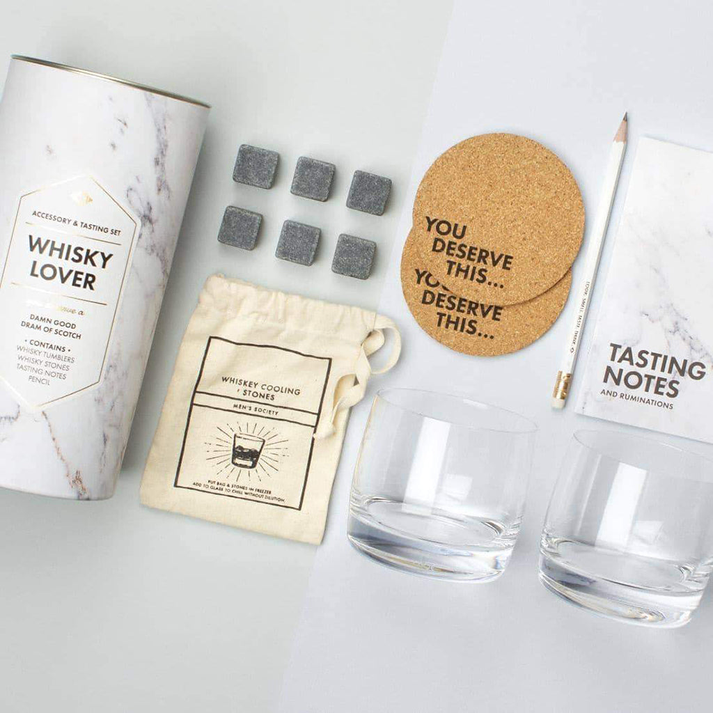 Men's Society Whiskey Lover's Kit (Accessory & Tasting Kit)
