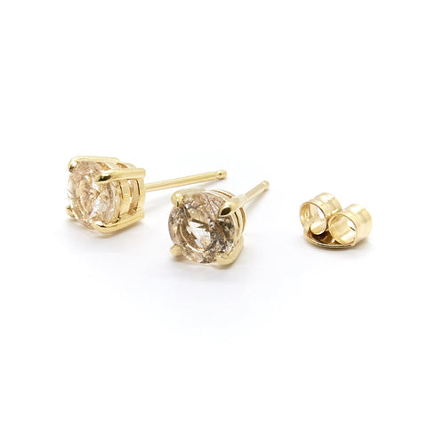 Natalie Marie Rutilated Quartz Studs
