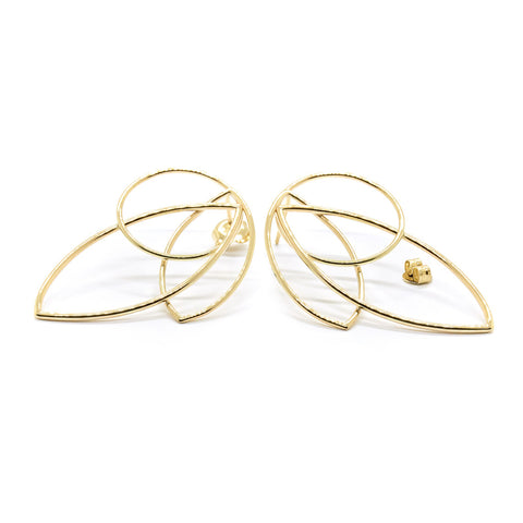 Natalie Marie Large Maple Earrings Smooth