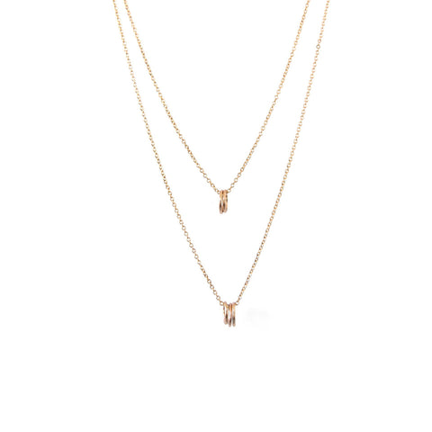 Natalie Marie Tiny Oval Layered Necklace