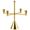 Normann Tivoli Pirouette Candle Holder 4 Brass